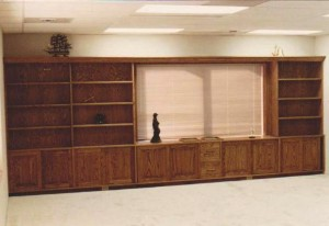 Built-in Office Wall Credenza